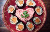 Valentine Sushi - un complément de repas ou bento de sushi végétalien.
