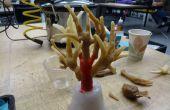 Making a wax chicken foot tree