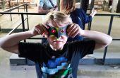 Masques en papier avec des yeux de LED à l'aide de Conductak !