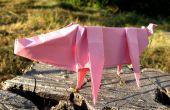 Origami papier impression facile porc