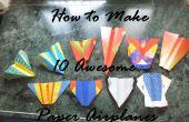 Comment faire 10 avions en papier génial !
