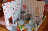 Maison de poupée pour petite pièce set chiffres