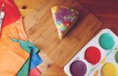 Fondu de Rainbow peinture égouttement gâteau