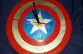 Captain America bouclier horloge