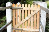 Palette bois porte de clôture pour mon pont