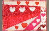 Carte postale de la Saint-Valentin tissu