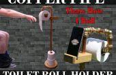 Cuivre tuyau rouleau papier hygiénique & téléphone Stand