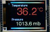 """Arduino BMP180 lectures du capteur température et de pression sur une écran TFT de 1.8"""" couleur"""
