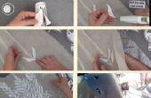 Robe de mariée DIY fabriqué à partir de 80 gobelets en plastique