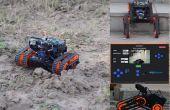Rakshak un : une rover pour la collecte de données et de surveillance avec des fonctionnalités de journalisation de données, voix alertes et distance de mesure.