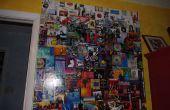 Réutiliser l'art de couverture album CD en collage de muraille géante.