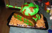 Déplacer le gâteau d'anniversaire de réservoir