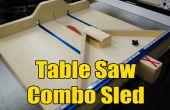 Table scie Cross Cut/Mitre traîneau Combo