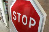 Comment faire une étagère avec un panneau d'arrêt