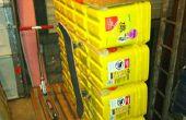 Réaffectés de litière pour chat seau Rack de stockage