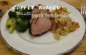 Café frotté le filet de porc grillé