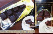 Triple « Tablette de chocolat » tarte (tarte au chocolat en forme comme une barre de chocolat)