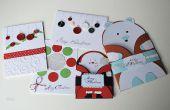 5 Noël & cadeau de nouvel an cartes artisanat bricolage papier idées - cadeaux facile & abordable -