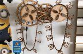 Horloge en bois chaîne