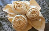 Serviettes de table Royal Rose : pliage tutoriel