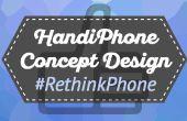 Design conceptuel téléphone HandiPhone