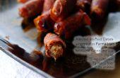 Amandes farcies dates enveloppés dans le jambon de Parme italien (jambon) (GF)