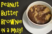 Brownie au beurre d'arachides dans une tasse !