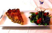 Paradis de la lampe du four (A savoureux pain de viande tarte surmonté d'un treillis de Bacon)