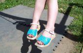 PAILLETTES chaussures - recyclées de laide usés à la recherche de chaussures