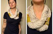 Sans couture (ou tricot!) Infinity écharpe tutoriel de filé