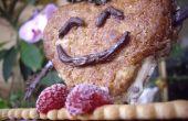 Happy Heart Yummy sur un banc de biscuit