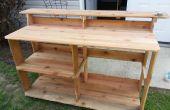 Cèdre clôture piquet Outdoor Bar / comptoir
