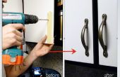 Installation d'armoires de cuisine porte poignées