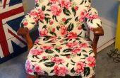 Fauteuil Vintage Vintage Flair (rembourrage une chaise en bois)