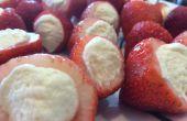 Gâteau au fromage fraises