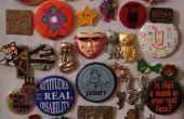 Broche Vintage bouton sticker /