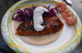 Tacos au poisson agrumes épicés (planche de cèdre)