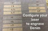 Configurer votre Laser pour graver Denim