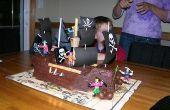 Gâteau bateau de pirate