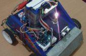Capteur à ultrasons robot voiture fonctionnant avec utilisé batterie moto avec écran LCD
