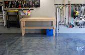Plancher de garage avant/après