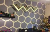 Hexagone mur chambre makever