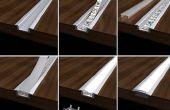 Profilés en aluminium pour LED bande lumière