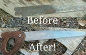 Scie à main restauration