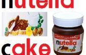 Gâteau de Nutella au chocolat avec gélatine moule