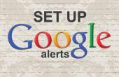 Étapes faciles pour créer des alertes Google