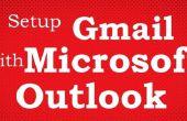 Comment faire pour ajouter Gmail compte dans Microsoft Outlook