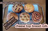 Super facile non-pétrir fromage pains - et autres garnitures