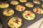 Bacon, asperges, tomates et fromage Quiche Cupcakes