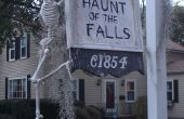 Famille affichage convivial de Halloween